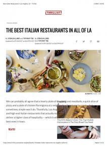 Best Italian Restaurants in Los Angeles, CA - Thrillist