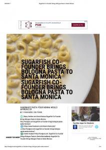 Sugarfish Co-Founder Brings Bologna Pasta to Santa Monica